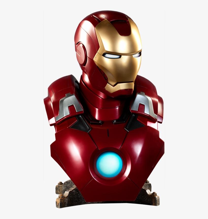 Iron Man Mark Vii Life-size Bust - Iron Man Mark Vii Life Size Bust Sideshow, transparent png #3634486