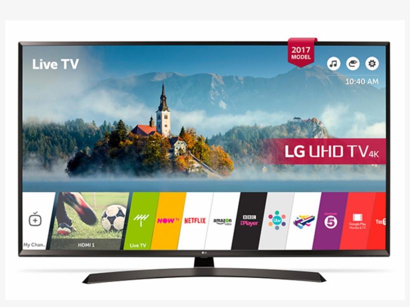 """Lg Led Tv 49"""" Uj634v Ultra Hd 4k Smart With Reciver - Lg Smart Tv, transparent png #3637354"""