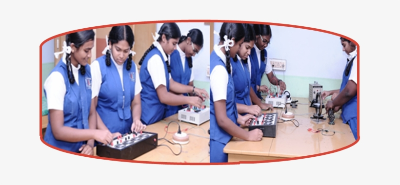 Students Understand The Complex Structure Of Physics - Holy Cross Anglo Indian School Tuticorin Science Lab, transparent png #3639402