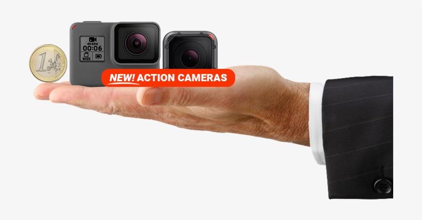 Digital Camera Size Compared To Coin - Gopro Hero 6 Black Camera Bundle, transparent png #3640146