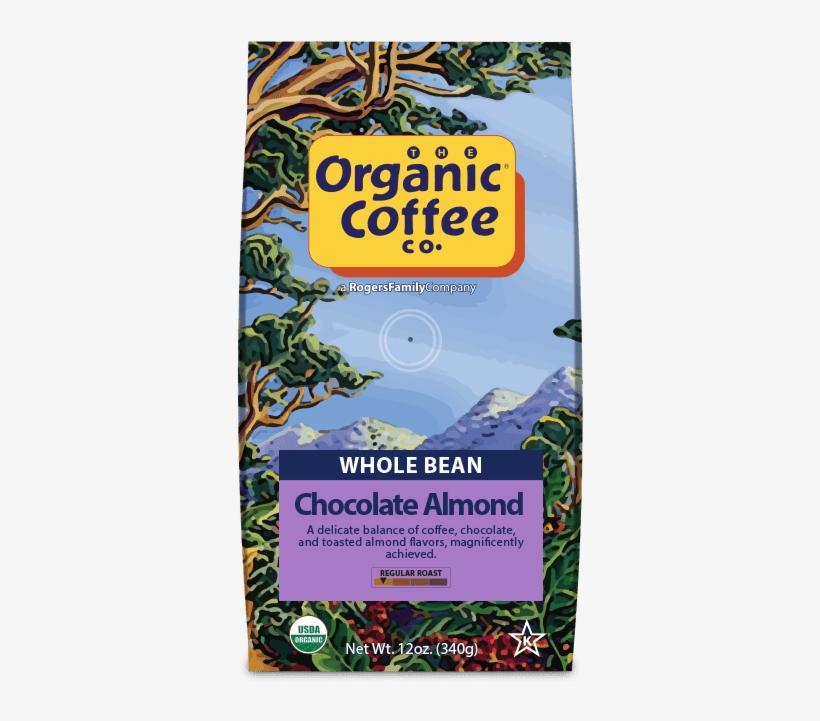 Chocolate Almond Coffee - Gorilla Decaf Coffee - Organic, 12 Oz. Bag, transparent png #3641248