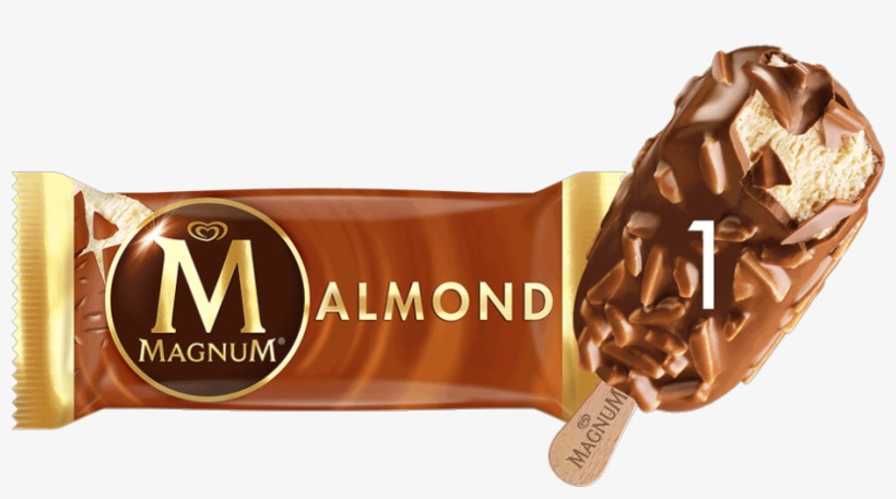 Wall's Magnum Almond Ice Cream 120ml, transparent png #3641769