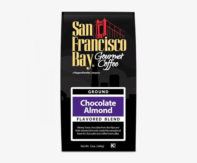 San Francisco Bay Chocolate Almond Ground Coffee 12 - Moka Java Blend Coffee, 12 Oz. Bag, transparent png #3641845