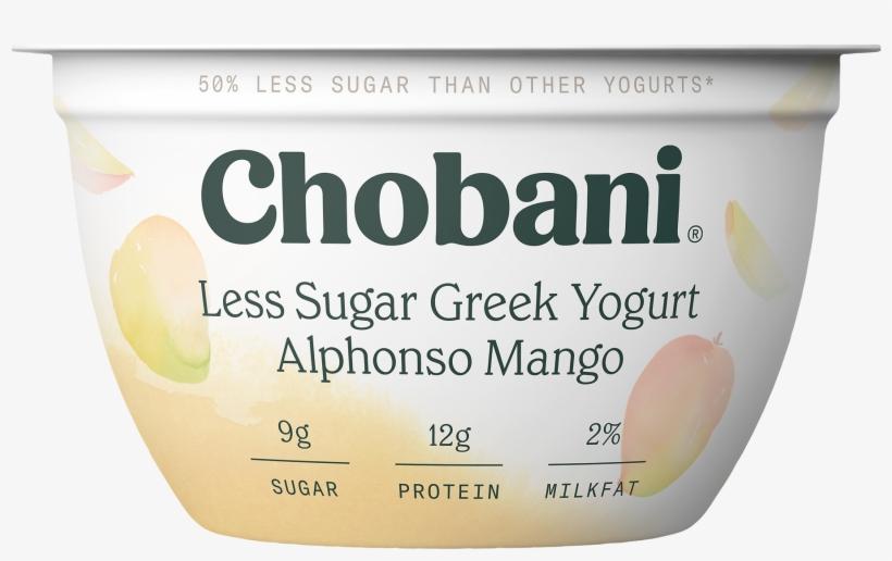 Chobani, Less Sugar Greek Alphonso Mango Low Fat Greek - Chobani Hint Of Flavor, transparent png #3643201