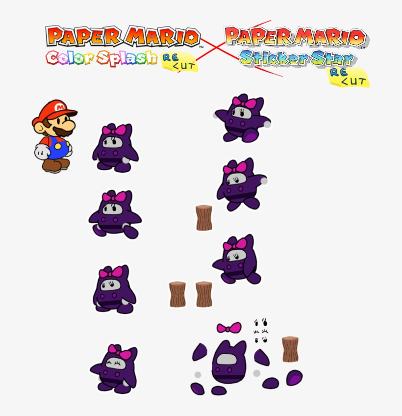 Prelude To The Recolored Paper Tale - Paper Mario Color Splash Ninji, transparent png #3643834