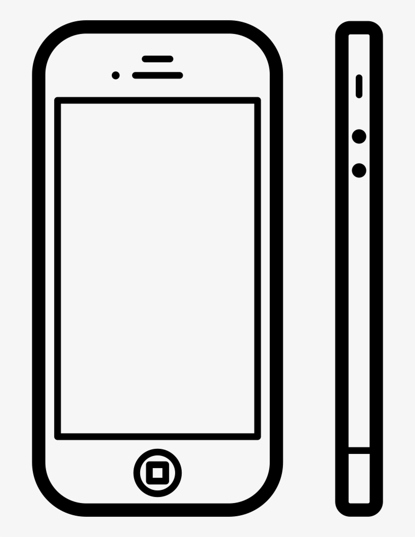 Apple Iphone 4 From Front And Side View Comments - Iphone Side View Vector, transparent png #3647027