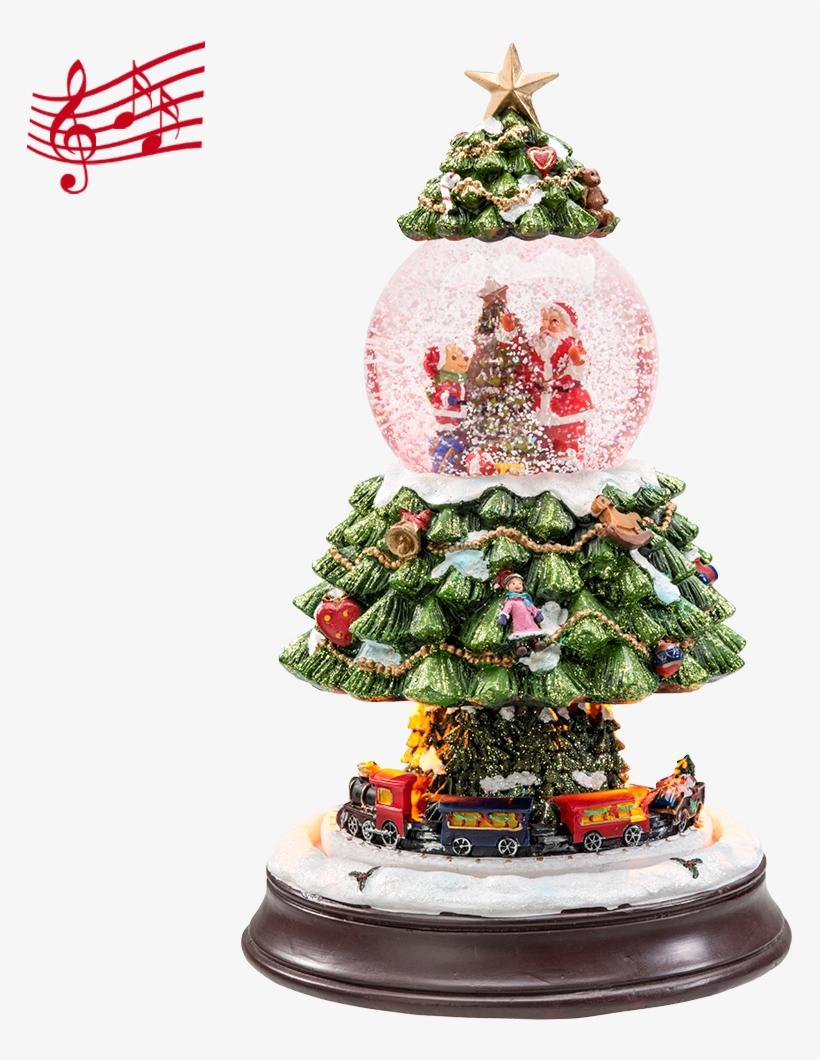 "Snow Globe ""under The Christmas Tree"" - Christmas Tree, transparent png #3649604"