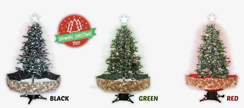 Snowing Christmas Tree - Christmas Ornament, transparent png #3649662