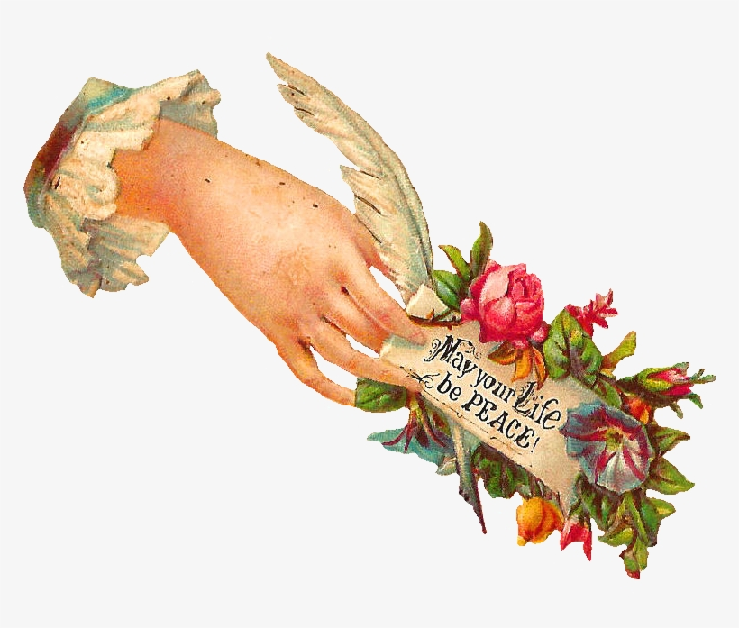 I Love Little Victorian Hand Whimsies They're So Pretty - Victorian Hand Holding Flowers, transparent png #3651511
