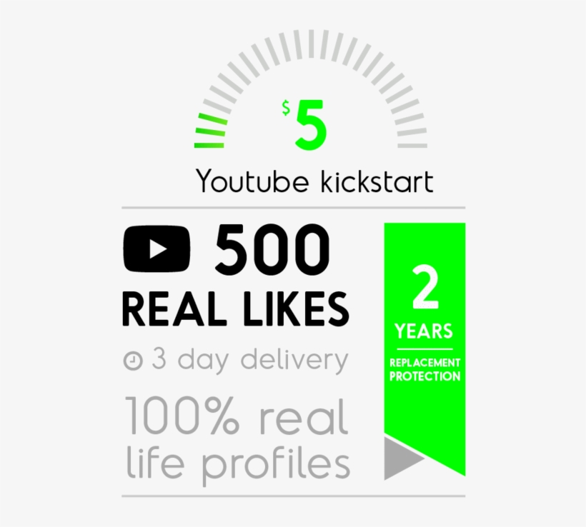 500 Real Youtube Likes - Like Button, transparent png #3653578