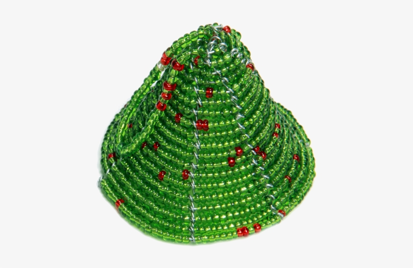 Johari Holiday Beaded Bell Ornament Was Handmade In - Christmas Tree, transparent png #3656051