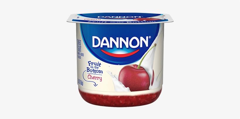 Dannon Cherry Fruit On Bottom - Dannon Yogurt Fruit On The Bottom, transparent png #3658172