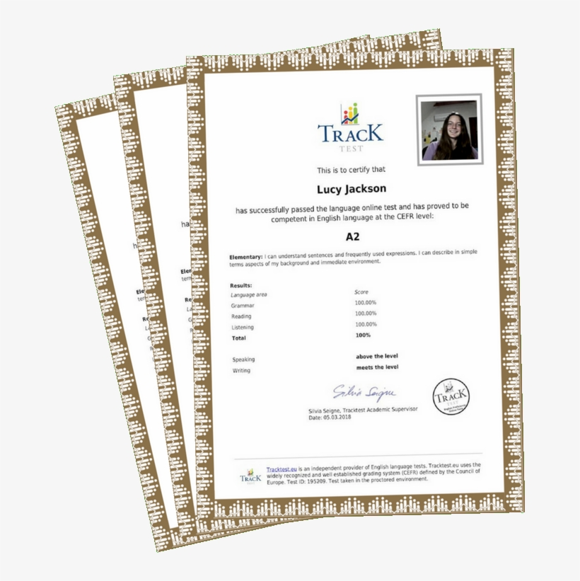 English Certificate Via Registered Letter - A2 English Test Certificate, transparent png #3658438