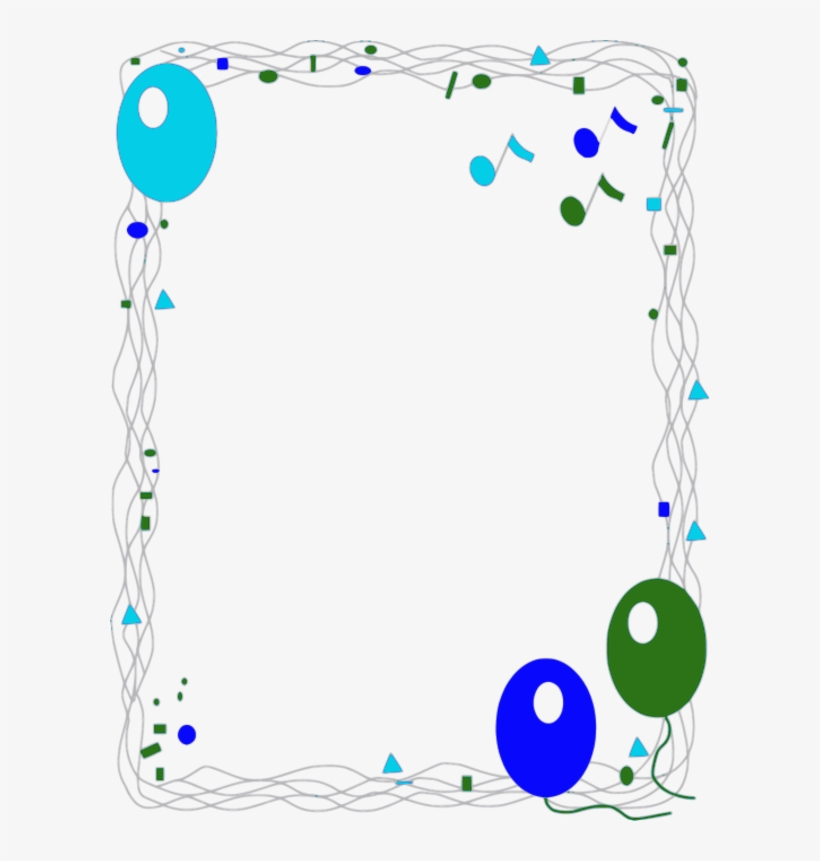 Birthday Balloon Border Clip Art - First Day At School Certificate, transparent png #3659616