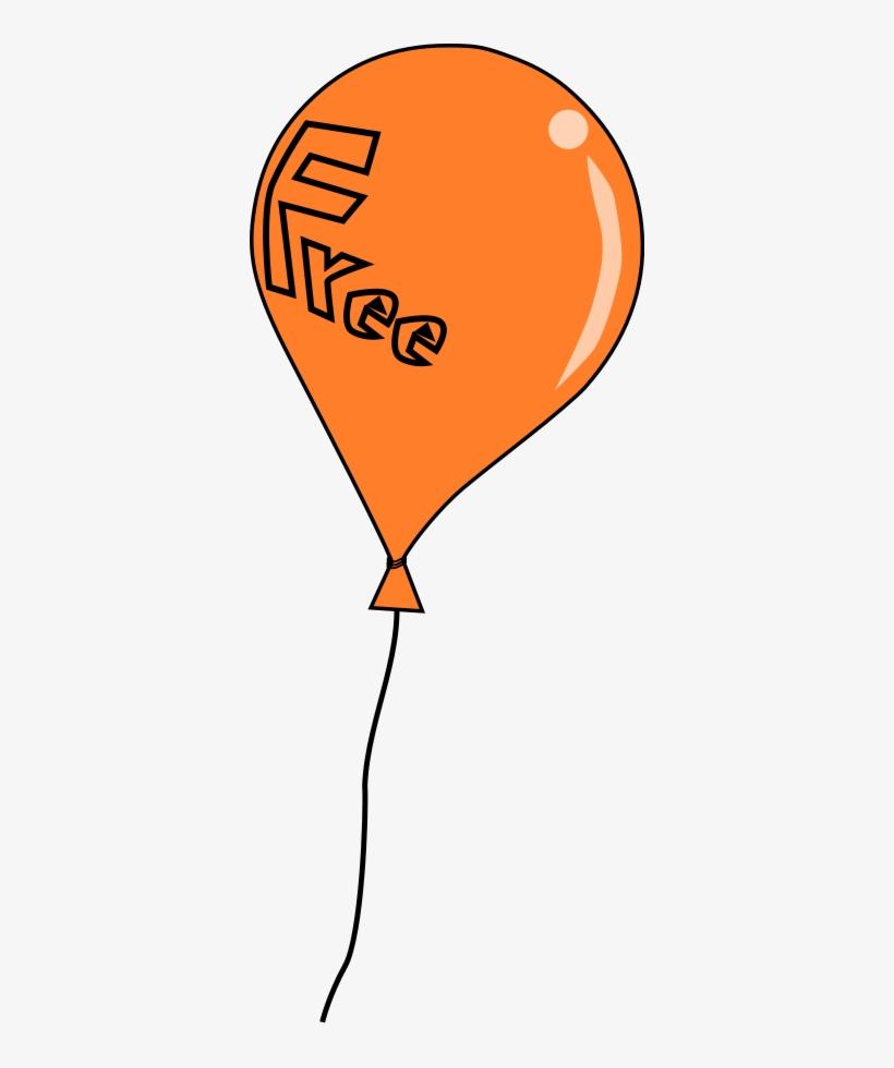Birthday Balloon Border Clip Art Clipart - Orange Balloon Clipart, transparent png #3659914