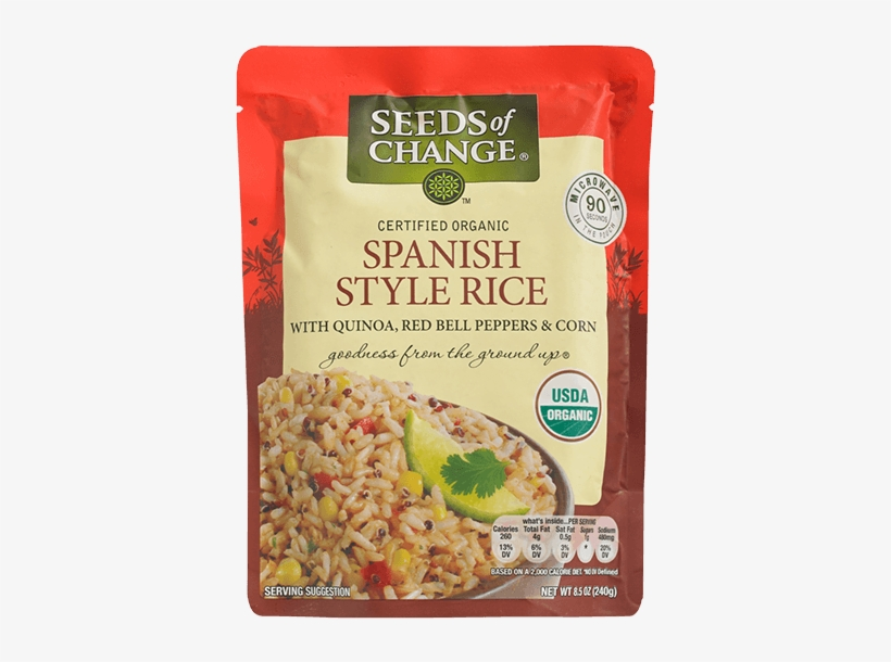 Spanish Style Rice - Seeds Of Change - Organic Spanish Style Rice - 8.5, transparent png #3662463