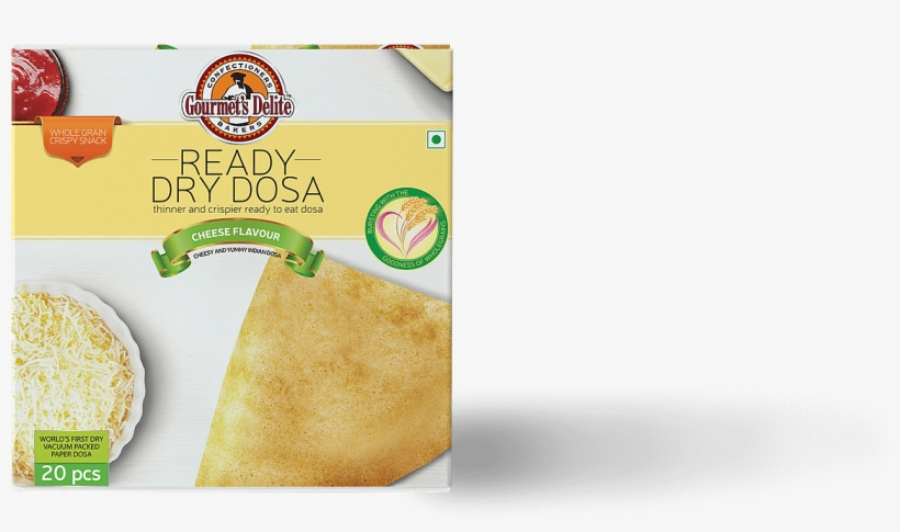 Snack Packaging Design, Branding, Box Design , Mumbai, - Gourmet's Delite Ready To Eat Dry Dosa, Pizza, 130g, transparent png #3663326