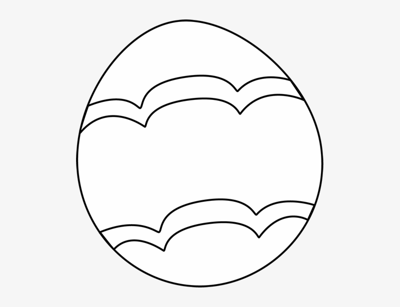 Black And White Decorated Easter - Black And White Easter Egg Clip Art, transparent png #3664941