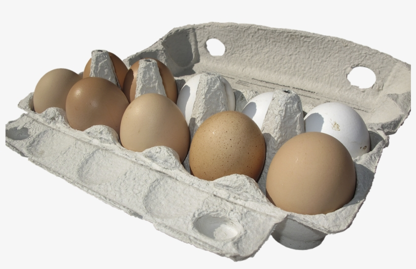 Egg,hen's Egg,egg Carton,lots Of Eggs,egg Packaging,brown - Carton Of Eggs Transparent Background, transparent png #3664942