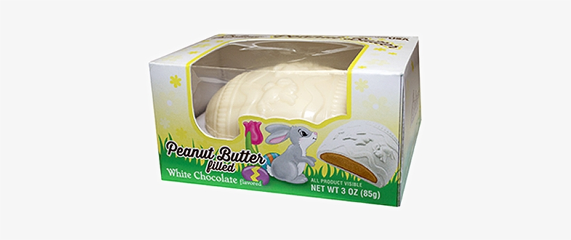 Palmer Peanut Butter Filled White Chocolate Egg 3 Oz - Palmer White Chocolate Peanut Butter Egg, transparent png #3665248