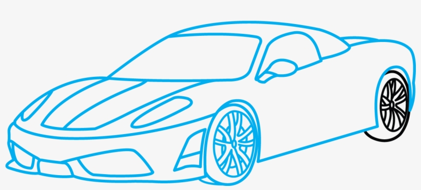 How To Draw Ferrari 360 A Sports Car Easy Step By Ferrari 360