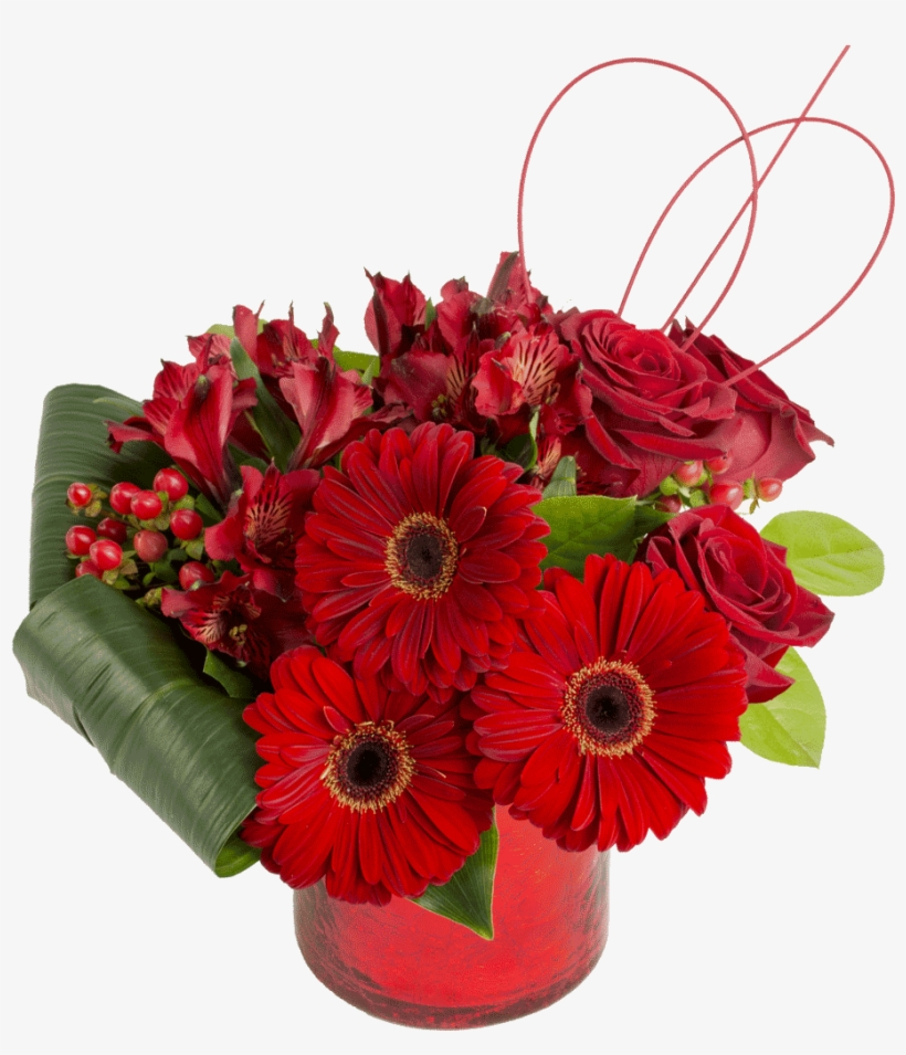My Lovely Valentine Bouquet - Basket Of Rose Flowers, transparent png #3666260