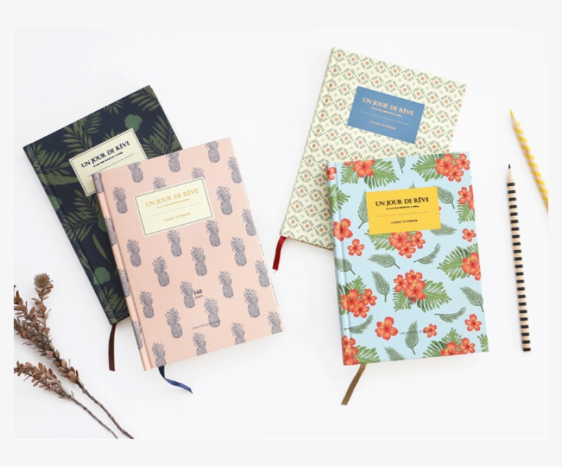 Iconic Un Jour De Reve Classic Hardcover Lined Notebook, transparent png #3667569