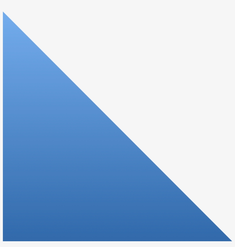 Custom Cut Frames To Fit Your Unique Project Needs - Blue Triangle Frame Png, transparent png #3668132
