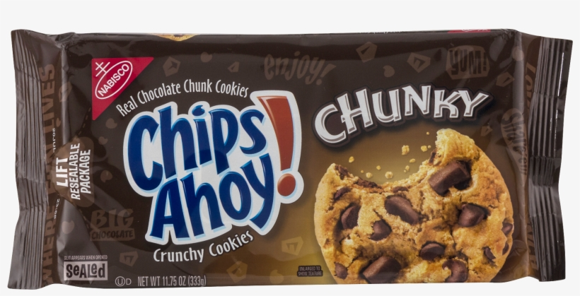 Chunky Chocolate Chunk Cookies, - Chips Ahoy Chunky Chocolate Chip Cookies, transparent png #3669548
