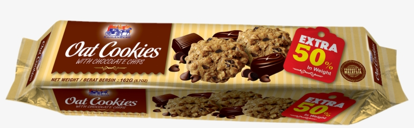 Oat Cookies With Chocolate - Kahlenberg Oat Cookies With Chocolate Chips - 5.7 Oz, transparent png #3670220