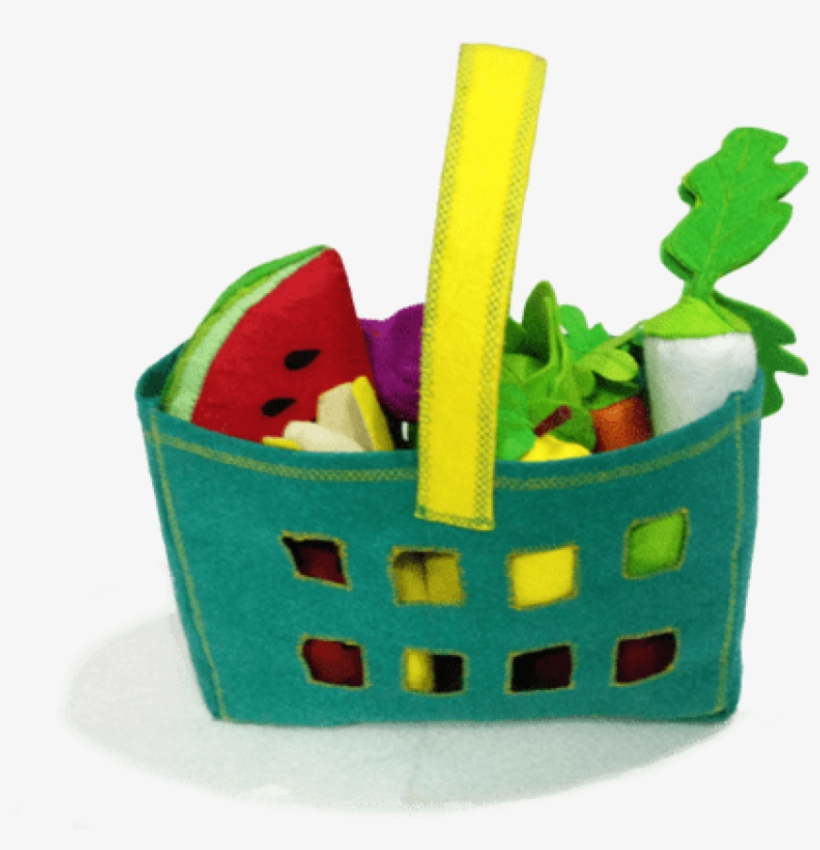 Felt Realistic Fruits & Vegetables With Basket - Vegetable, transparent png #3671509