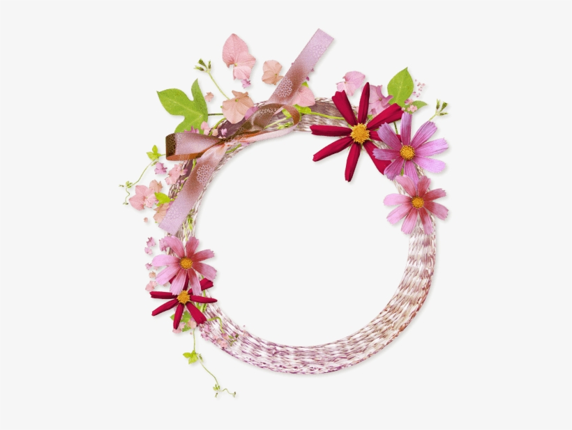 Free Png Floral Round Frame Png Images Transparent - Circle Flower Frame Png, transparent png #3673203