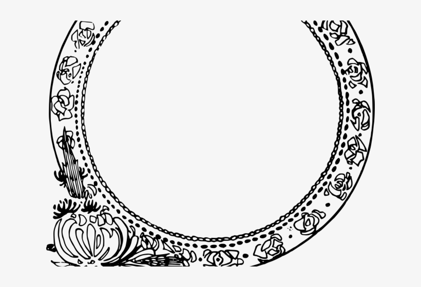 Oval Clipart Round Flower - Border Png Round, transparent png #3673774