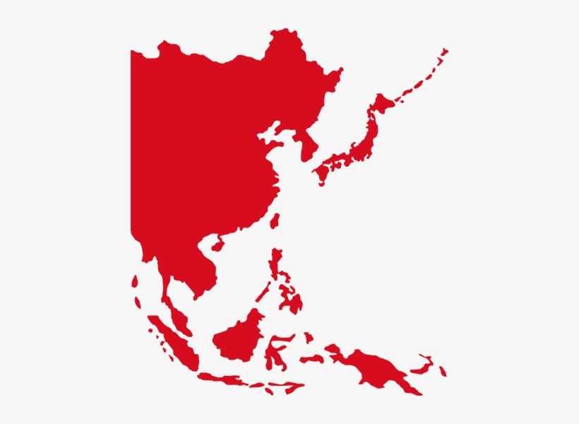 Asia-map - Southeast Asia Map Red - Free Transparent PNG Download ...