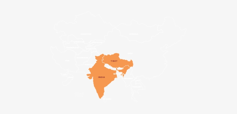 Odyssey Online South Asia Provides Students A Way To - Map Of India, transparent png #3679497