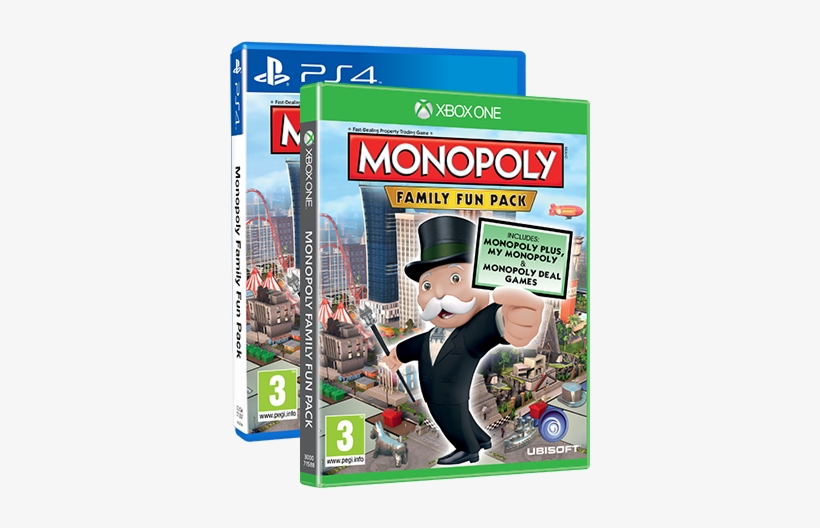 Holiday Game Night For A New Generation - Ubisoft Monopoly Family Fun Pack Xbox One Video Game, transparent png #3681254