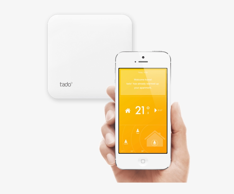In Comparison, The Nest Detects People Through A Motion - Tado Smart Thermostat - Start Kit (v3) In Size, transparent png #3682882