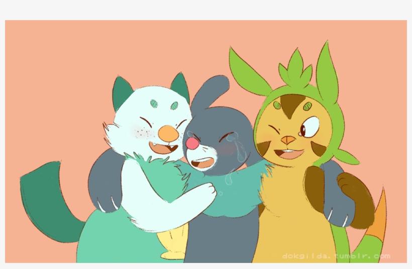 Pokémon Sun And Moon Green Mammal Cat Cartoon Vertebrate - Popplio Oshawott, transparent png #3684291
