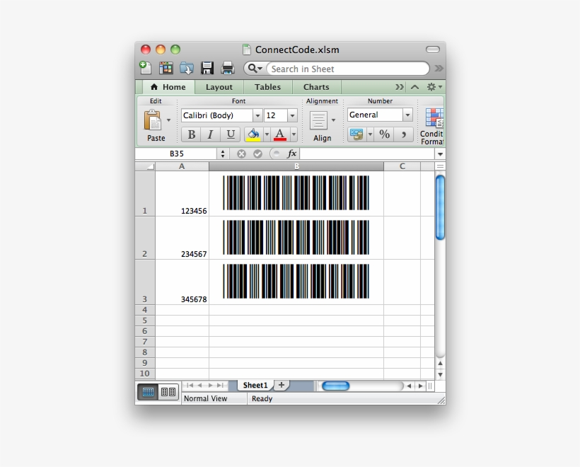Creating Barcodes In Excel For Mac 2011/2016 - Barcode Ms
