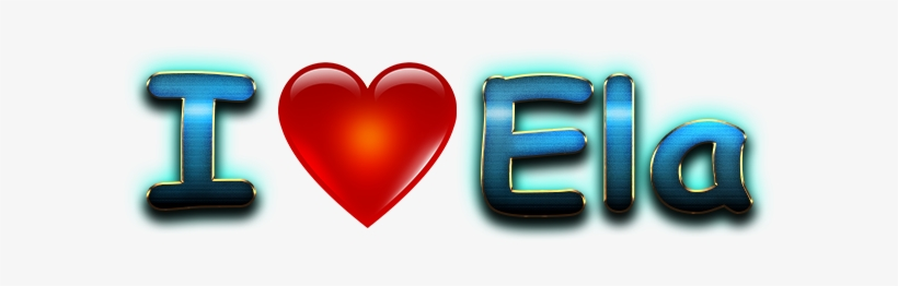 Ela Love Name Heart Design Png - Love, transparent png #3692171