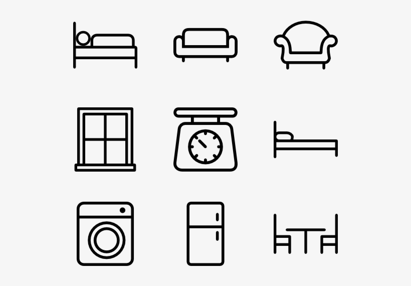 Home Appliances And Furniture - Household Furniture Icon Png, transparent png #3693509