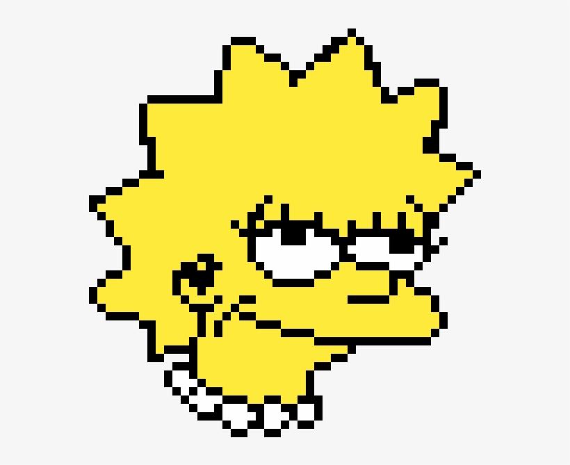 Lisa Simpson Pixel Arts Minecraft Templates Free