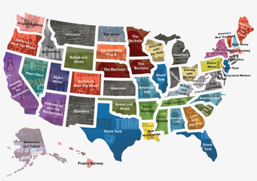 Most Popular Reality Tv Shows By State, transparent png #3698143
