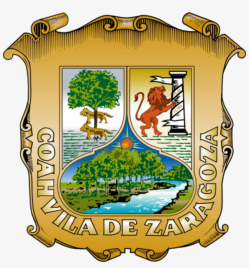 El Significado Del Nombre De Coahuila Es El Gentilicio - Escudo De Coahuila De Zaragoza, transparent png #3698594