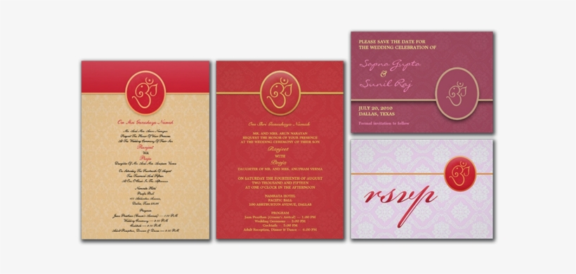 Indian Style Wedding Invitation - Letter, transparent png #372012