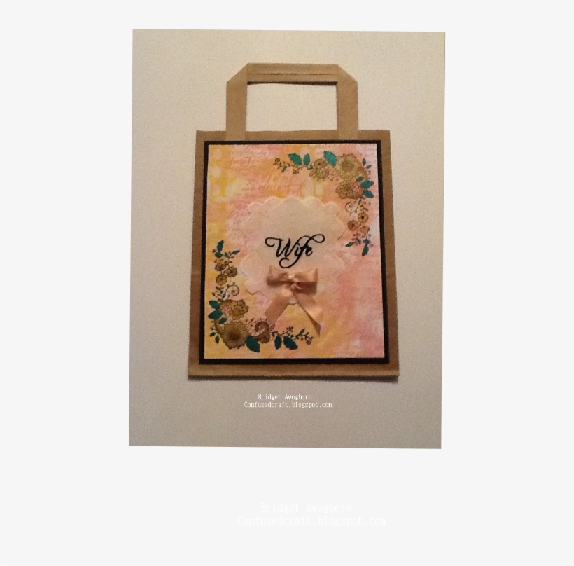 I Used One Of The Lace Border Stamps On This Bag - Picture Frame, transparent png #372383