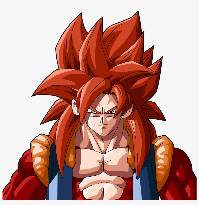 Ssj Red Hair Png Ssj4 Red Hair Dragon Ball Z Gogeta Ssj4 Free
