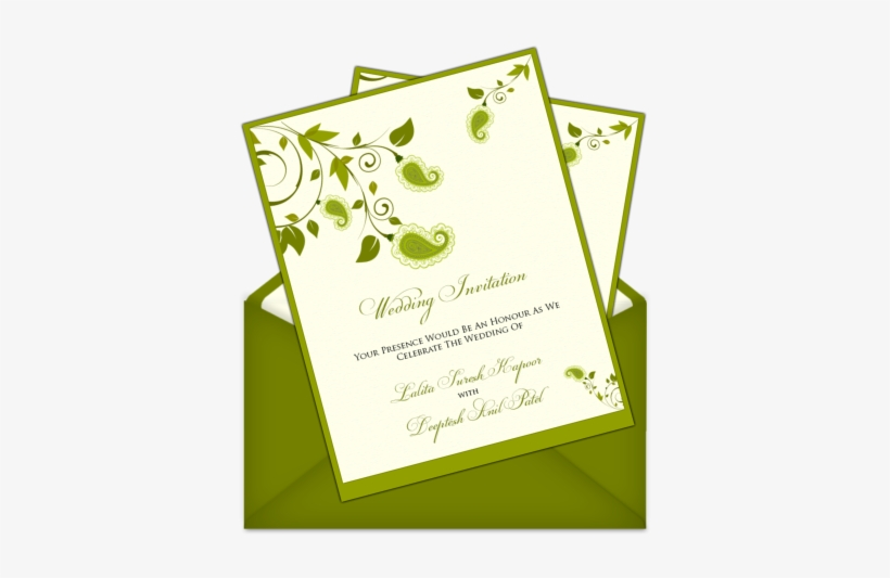 Simple Invitation Card Design Letter Style Email Indian