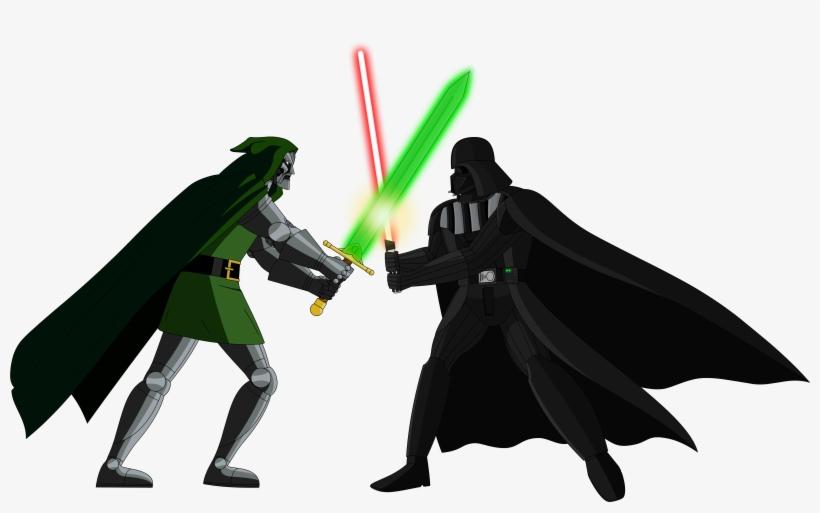 Darth Vader Vs Doctor Doom Vector By Kronoxus - Darth Vader And Doctor Doom, transparent png #374854