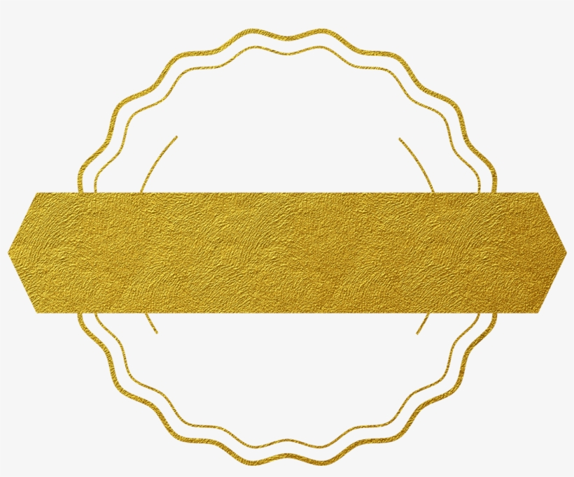 Glittery Gold Circle - Illustration, transparent png #374912